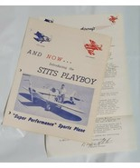 Vintage 1950's Stits Playboy Aircraft Sports Plane Advertising Signed Le... - $17.78