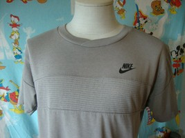 Vintage 80's Nike Blue Tag Gray T Shirt L  - $39.59