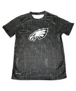 Philadelphia Eagles Boy's 8-18 Shirt NFL Resounding Short Sleeve Dri Tek... - $11.99
