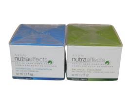 2 AVON NutraEffects  Active Seed Complex Night Balance & Hydration New - $28.98