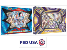 Ash-Greninja EX Box + Mewtwo EX Collection Box POKEMON TCG Sealed Booster Packs - $54.99