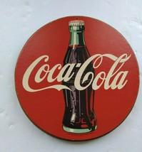 Vintage 1991 Coca Cola Wood Sign - $29.69