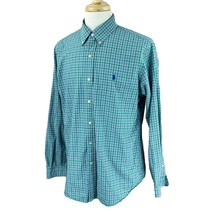 Ralph Lauren Polo Men's Long Sleeve Lightweight Cotton Green Check Shirt Large - $23.75
