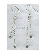 Long Silver Star Dangle Chain Earrings - $9.99