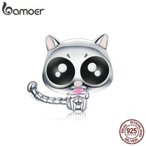 BAMOER New Arrival 925 Sterling Silver Baby Cat Enamel Beads fit Women C... - $25.30