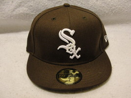 Chicago White Sox brown with white pop up embroidery size 7 New Era cap/hat - $23.75