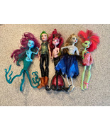 Lot Of 5 Monster High Dolls In Played With Condition - $54.44