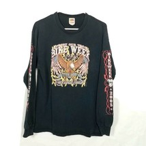 Vtg Daytona Beach T-Shirt 2005 Bike Week Support Our Troops Black Distre... - $28.65