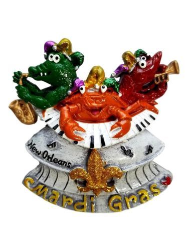 Gator Crab Crawfish Superdome Mardi Gras Magnet Party Favor