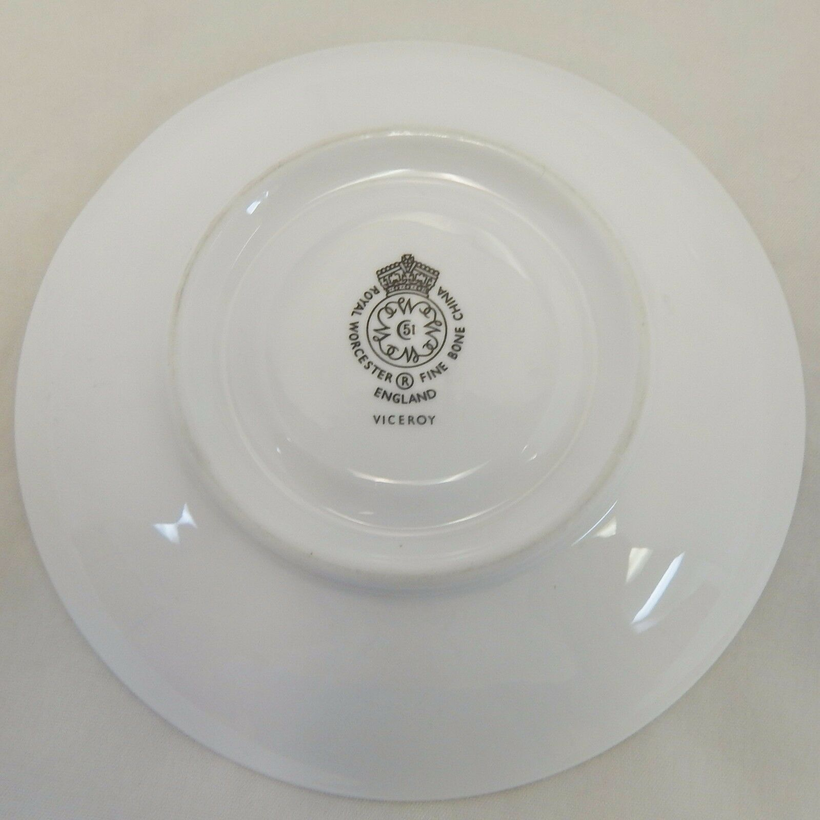 Royal Worcester England 2 Viceroy Cup and Saucer Sets