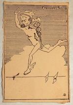 Comic Political Postcard 1900's Italy Cartolina Italia Signed Rare image 1