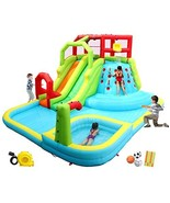 WELLFUNTIME Inflatable Water Slide Park with Splash Pool Climb The Wall,... - $1,651.00