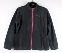 Columbia kids girls fleece jacket black zipper polyester size XL 18-20 - $17.90