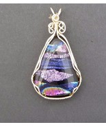 FUSED GLASS PENDANT IN 14 K GOLD FILL WIRE wrap - $37.62