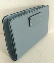 New Kate Spade Tellie Grove Street Leather wallet Blue Dawn - $55.00