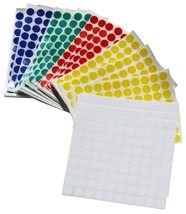 """Round Dots Stickers Half Inch 1/2"""" Circle Labels Permanent Adhesive 6000... - $13.76"""