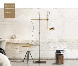 OC White Pharmacy Floor Lamp Iron & Brass Articulating Task Light Home L... - $391.02