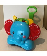 Fisher Price Stride To Ride Bounce Elephant Walker Ride On Toy Lights an... - $44.99