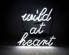 "New Wild At Heart Acrylic Back Neon Light Sign 14"" Fast Ship - $60.00"