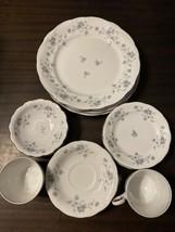 Johann Haviland Blue Garland Set 4 Dinner Plates, Dessert Plates, Berry Bowls+ - $45.82