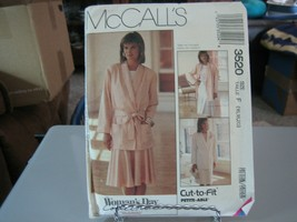 McCall's 3520 Misses Unlined Jacket, Tie Belt & Skirt Pattern - Size 16/... - $7.91