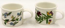 Portmeirion Botanic Garden Tea Cup Drum Coffee Mug 7 oz Set Of Two - $37.99