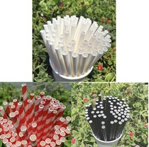Paper Straws 6mm 7 3/4'' For Drinks Decorations 25 50 125 250pcs  - $51,27 MXN+