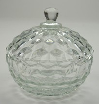 "Indiana Glass - Whitehall Clear Pattern - Lidded Candy Dish - 5.25"" Round - $17.99"