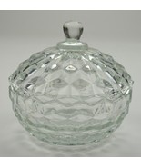 """Indiana Glass - Whitehall Clear Pattern - Lidded Candy Dish - 5.25"""" Round - $17.99"""