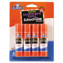 Elmer's Washable School Glue Sticks, Purple .24 oz  4/Pack Disappearing - $2.56