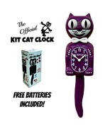 "BOYSENBERRY KIT CAT CLOCK 15.5"" Purple Free Battery MADE IN USA Kit-Cat ... - $69.99"