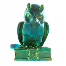 Vintage Zsolnay Eosin Owl Figurine on Book - $170.48