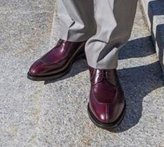 Mens Maroon Tone Stylish Fashion Lace Up Premium Leather Apron Toe Oxford Shoes - $139.99+