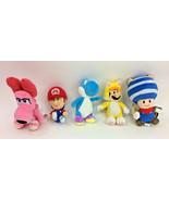 Super Mario Smash Bros Toad Flying Squirrel Blue Yoshi CatMario Birdo Se... - $30.80