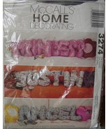 Sewing Pattern 3274 Throw Pillows, Letters and Heart, Flower,Star UNCUT - $3.99