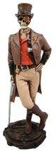 "Atlantic Collectibles Steampunk Skeleton Costume Gentleman Figurine 8.75"" H Skel - $27.49"