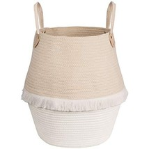 Goodpick Cotton Rope Basket - Large Woven Storage Basket with Handles fo... - $30.56