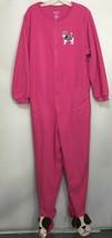 Nick & Nora Womens 2XL Pink Scottie Dog One Piece Fleece Footed Pajamas  - $33.81