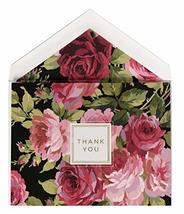 Anna Griffin Boxed Set of 12 Thank You Notes ~ Rose Black Foil Collection (NC366