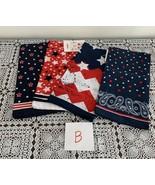 Four Brand New Assorted Patriotic Bandanas 22 Inch Square Star Stripes S... - $11.49