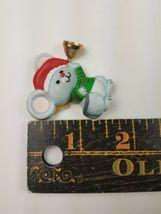 Vintage Hallmark Christmas Magnet Mouse w/ Santa Hat Holding Bell image 3