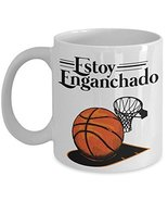 Estoy Enganchado Basketball Coffee & Tea Gift Mug Cups For Spanish Speak... - $13.71