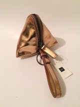 Gap Triangle Zip Wrislet Coin Purse Mettalic Bronze - New with tags - $11.29