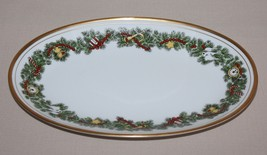 "Fitz & Floyd St. Nicholas 10"" Oval Underplate Gravy or Relish Plate Chri... - $24.70"