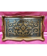 Coffee Tea Serving Tray Wooden HandMade Collectible Walnut Tree no2 - $44.43