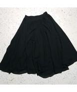 Collections Internationale Women's Long Skirt ~ Sz 10 ~ Black ~ Flare ~ ... - $34.64