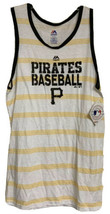 Pittsburgh Pirates Mens Tank top Size XL White Yellow Stripes Genuine ML... - $18.99