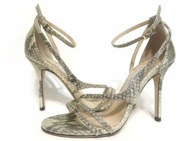 Jimmy Choo Leather Snake Print Lea Sandals Gold Size 36 - $222.75