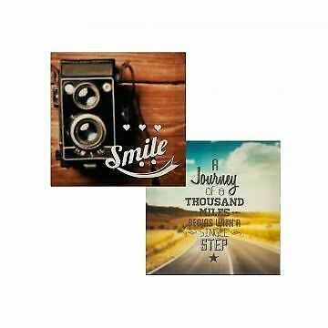 Small Inspirational Canvas Wrapped Wall Art 7.25'' x 7.125'' - $9.99