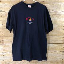 Salt Lake City Utah 2002 Winter Olympics Vintage Adult T-Shirt - $18.55